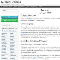 Tragedy - Examples and Definition of Tragedy