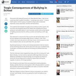 Tragic Consequences of Bullying in School