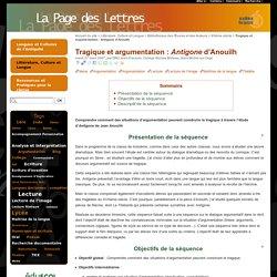 Tragique et argumentation : Antigone d'Anouilh