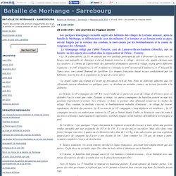 20 août 1914 : une journée au tragique destin - Bataille de Morhange - Sarrebourg