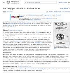 La Tragique Histoire du docteur Faust