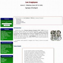 Les Tragiques, Livre I (vers 97 à 131) - Misères - Agrippa d'Aubigné