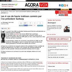 Les 4 cas de haute trahison commis par l'ex président Sarkozy
