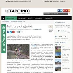 Trail : Le pacing (suite)