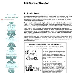 Trail Signs of Direction, Dan Beard