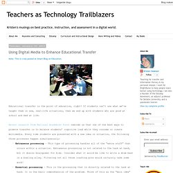 Using Digital Media to Enhance Educational Transfer