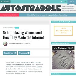 15 Trailblazing Women and How They Made the Internet