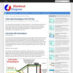 Trailer Light Wiring Diagram 4 Pin,7 Pin Plug