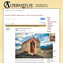 """Trailer för ett """"Tiny house"""" (hus på hjul)"""