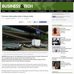 Car-drawn trailers gather steam in Kenyan market