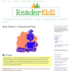 Book Trailers ~ Educational Tools