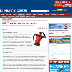 HIIT: Train less for better results - Beginners
