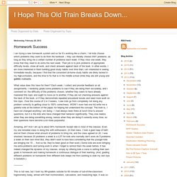 I Hope This Old Train Breaks Down...: Homework Success