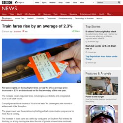 3.3.4 Train fares rise by an average of 2.3%