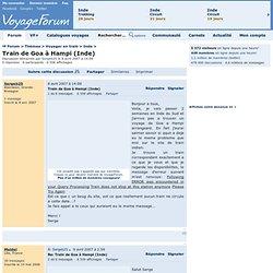 Thèmes> Voyager en train> Train de Goa à Hampi (Inde)