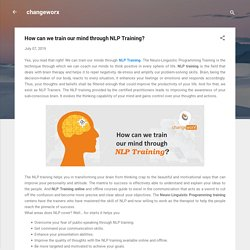How can we train our mind through NLP Training?