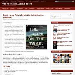 The Girl on the Train: A Novel by Paula Hawkins AudioBook