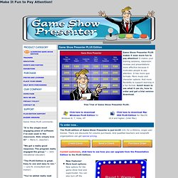 Train and Teach with Game Show Presenter PLUS