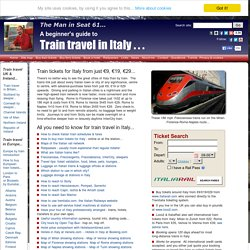 Train travel in Italy, a beginner's guide