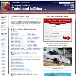 Train travel in China - a beginner's guide