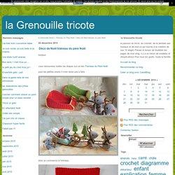Déco de Noël traineau du père Noël - la Grenouille tricote