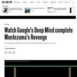 Google's Deep Mind is trained to complete Montezuma's Revenge