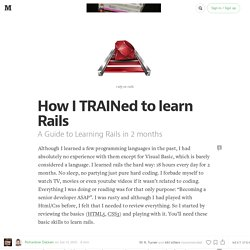How I TRAINed to learn Rails  — Ruby or Rails
