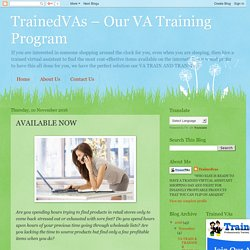 TrainedVAs – Our VA Training Program: AVAILABLE NOW