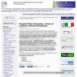 Progetto Pilota Traineeship – Avviso di selezione Istituzioni Scolastiche « MIUR USR-ER Direzione Generale