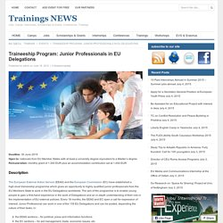 Trainings NEWS » Traineeship Program: Junior Professionals in EU Delegations