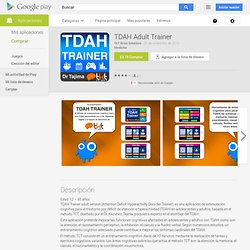 TDAH Adult Trainer - Aplicaciones Android en Google Play