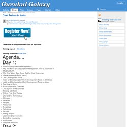 Chef Trainer in India : Gurukul Galaxy