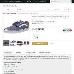 Vans Trainers - Men's Chapman Stripe Shoes Trainers Dress Blue