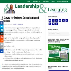 A Survey for Trainers, Consultants and Coaches