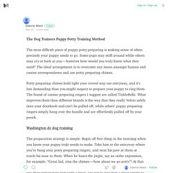 The Dog Trainers Puppy Potty Training Method
