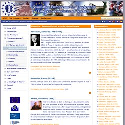 TRAINEUROPE - AEDE :: Glossaire Personnalités