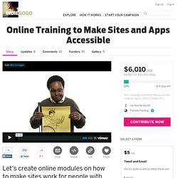Online Training to Make Sites and Apps Accessible