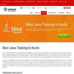 JAVA training in Kochi - Advacned JAVA J2EE training program