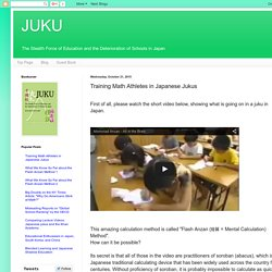 JUKU: Training Math Athletes in Japanese Jukus