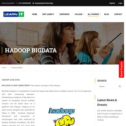 Hadoop-Big Data Training