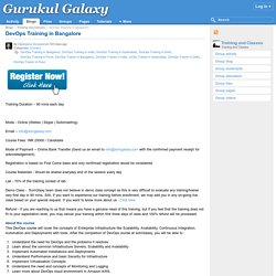 DevOps Training in Bangalore : Gurukul Galaxy