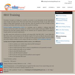 SEO Training in Bhopal, Best SEO Training Institute: SEO AIM POINT