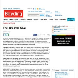 Century Training Goals: Cycling Tips