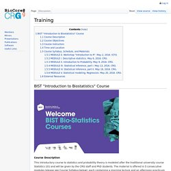 Training - Bioinformatics Core Wiki