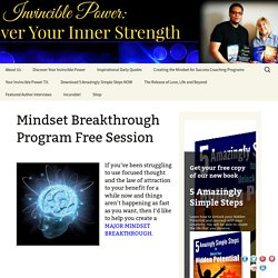 Mindset Training Classes -Mindset Breakthrough Coaching Program