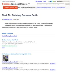First Aid Training Courses Perth