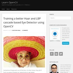 Training a better Haar and LBP cascade based Eye Detector using OpenCV