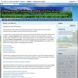 VMware Training and Certification: Studying for the VCP5 exam