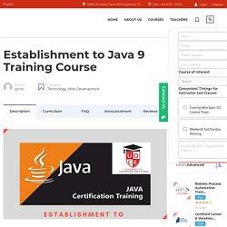Best Java 9 Training Certification Classes