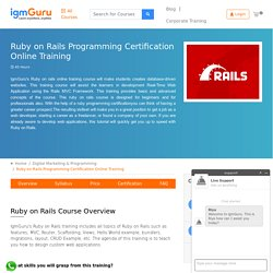 Ruby on Rails Training Certification Course Online